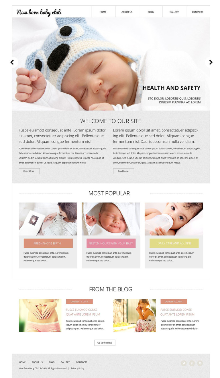 New Born Baby Club Website Template New Screenshots BIG