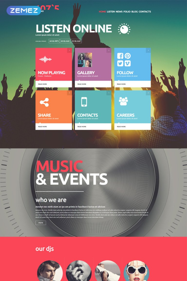 Online Radio Joomla Template New Screenshots BIG