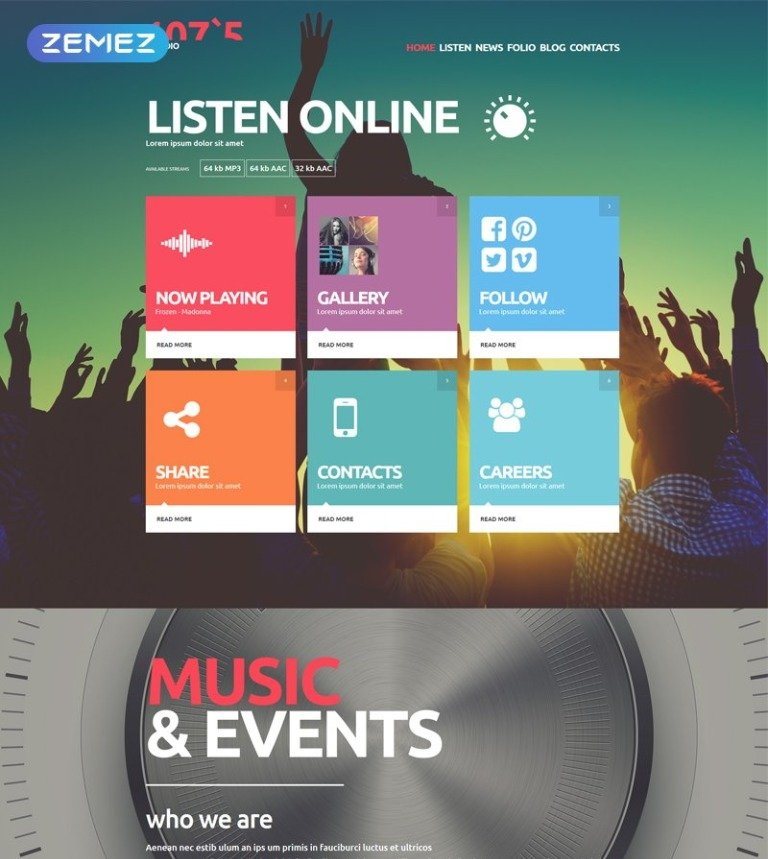 online radio joomla website templates themes free.html