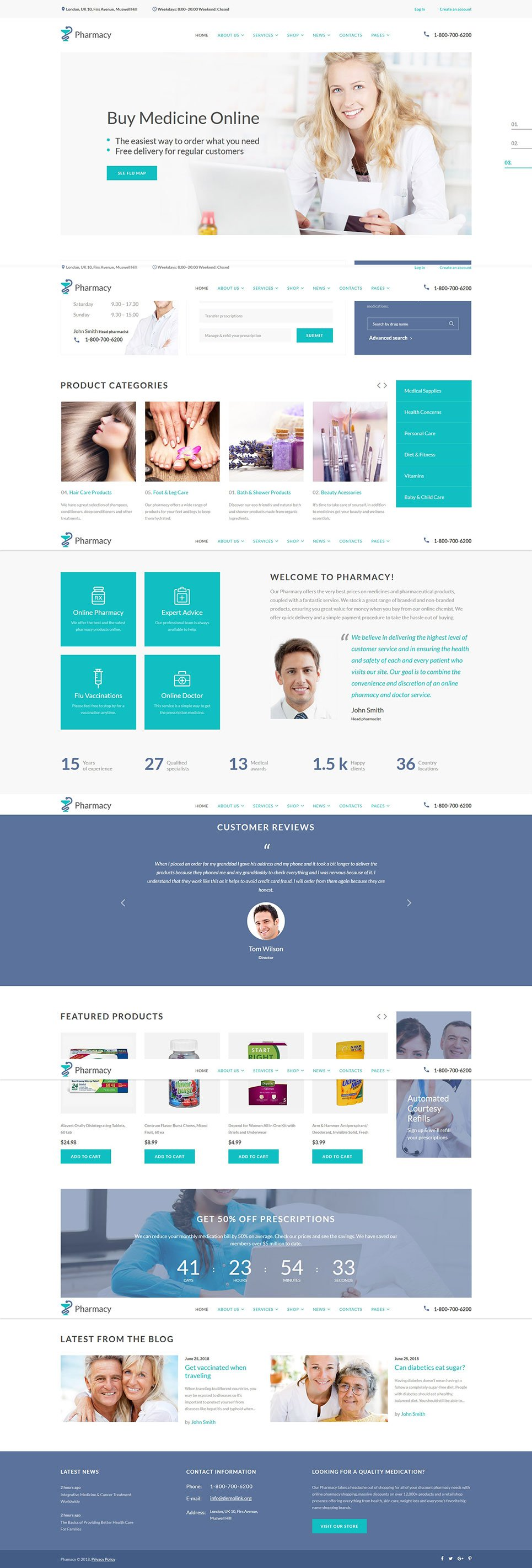 Pharmacy medical multipage html5 template maxwellsz