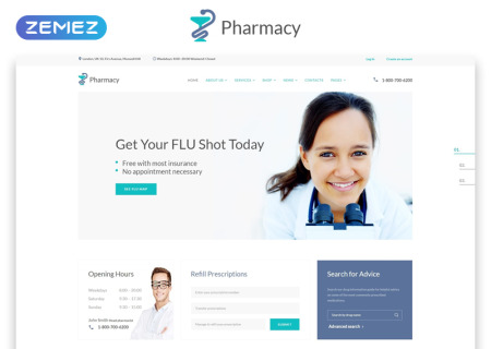 Pharmacy Medical Multipage HTML5