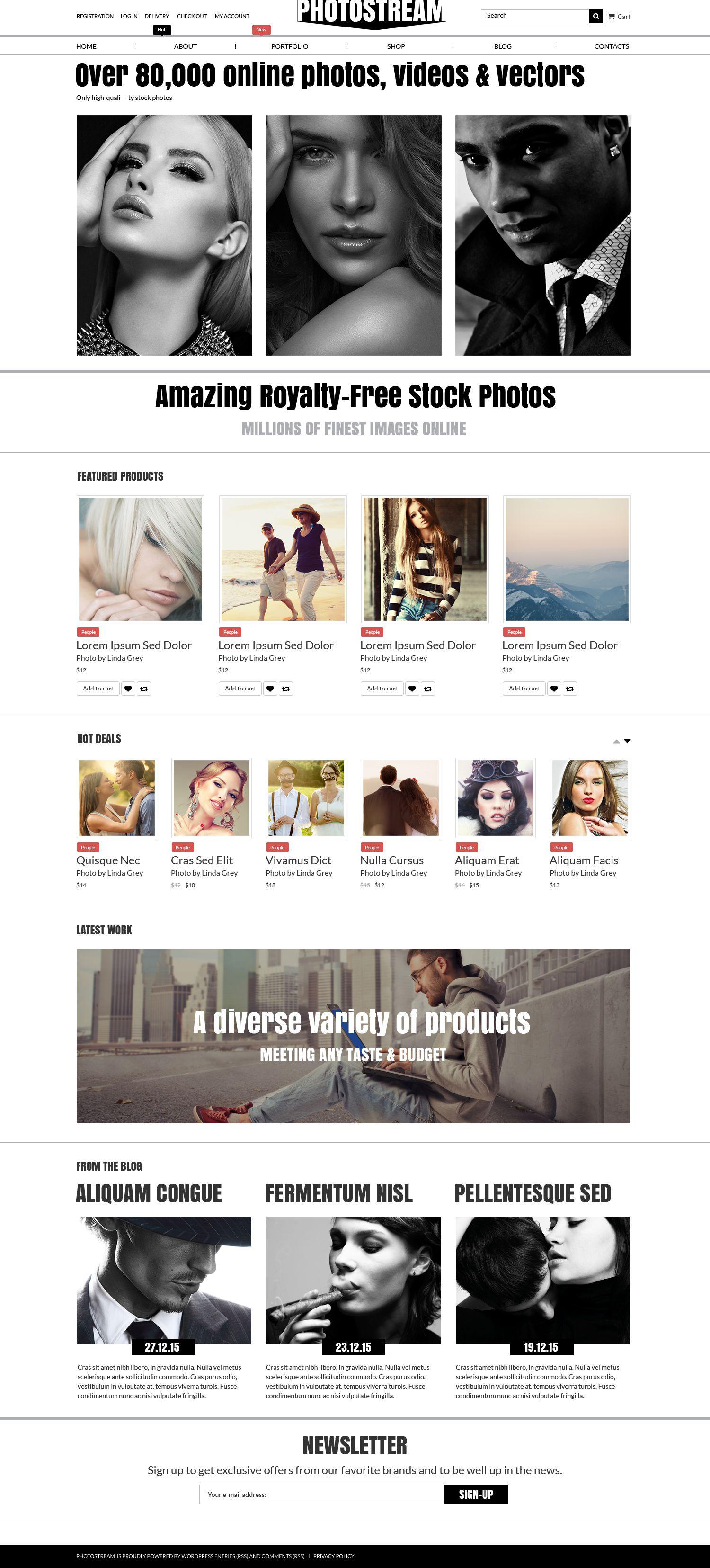Photo Stock WooCommerce Theme