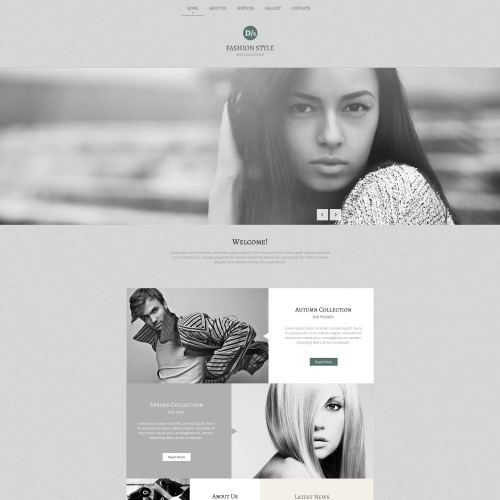 Fashion Style - Photo Gallery Template