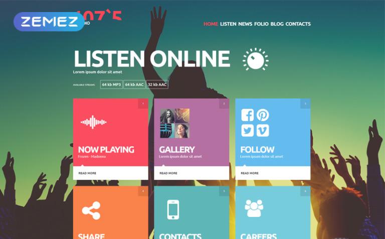 Plantilla Joomla #52769 para Sitio de Radio