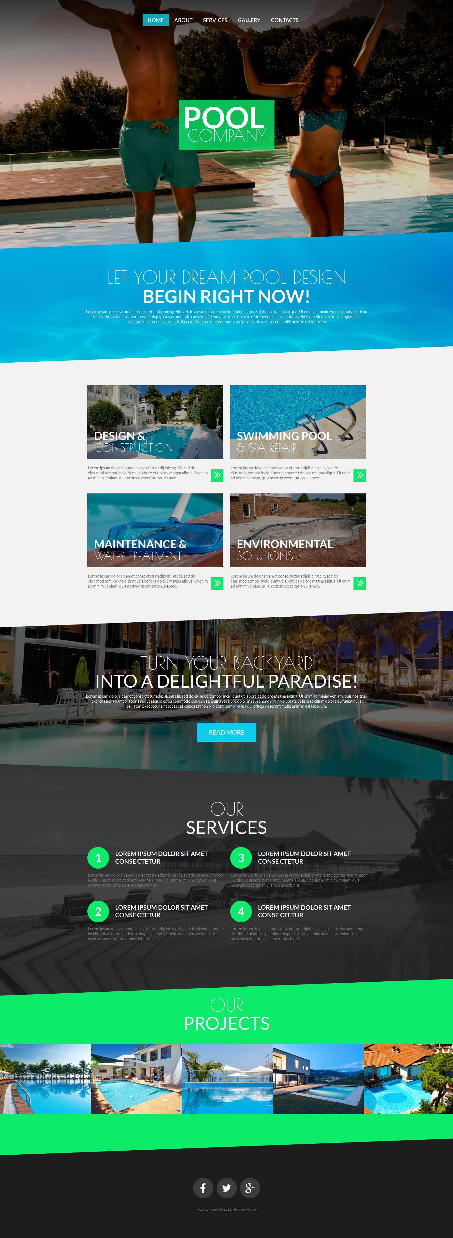 Plantilla Moto CMS HTML #52783 para Sitio de Piscinas