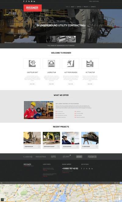 Plantilla Moto CMS HTML #52785 para Sitio de  para Sitio de Compañías mineras