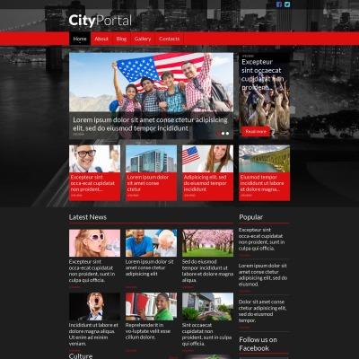 Plantilla Moto CMS HTML #52778 para Sitio de  para Portal de Ciudad
