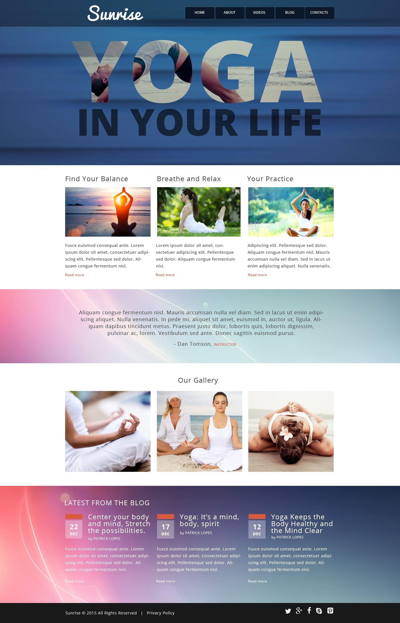 Hermosa Plantillas De Sitios Web De Yoga Gratis Viñeta - Ejemplo De ...