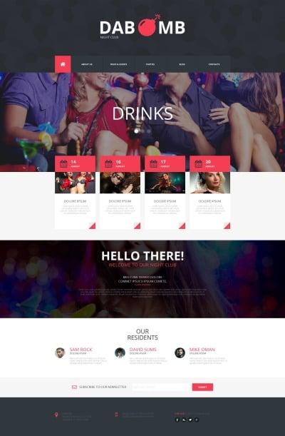 Night Club Responsive Moto CMS HTML Sablon