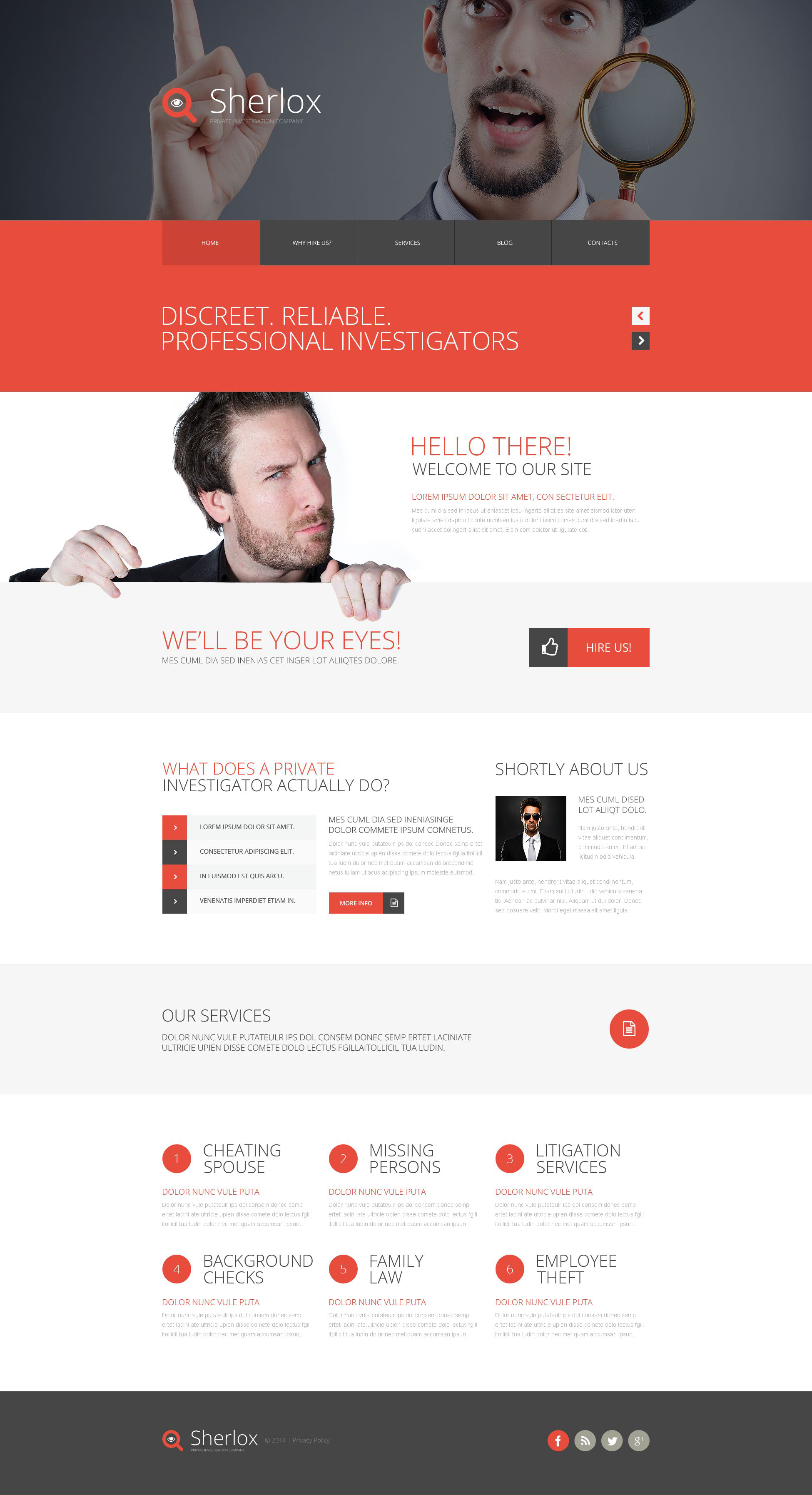 Private Investigation Website Template #52737