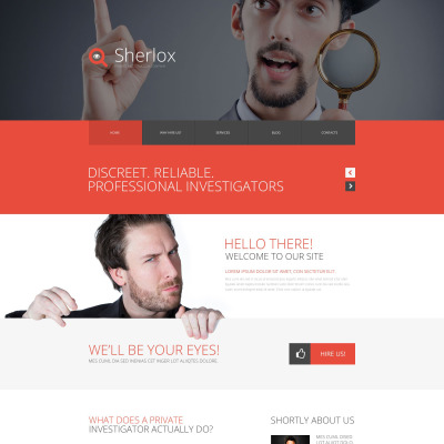 Private Investigator Website Templates