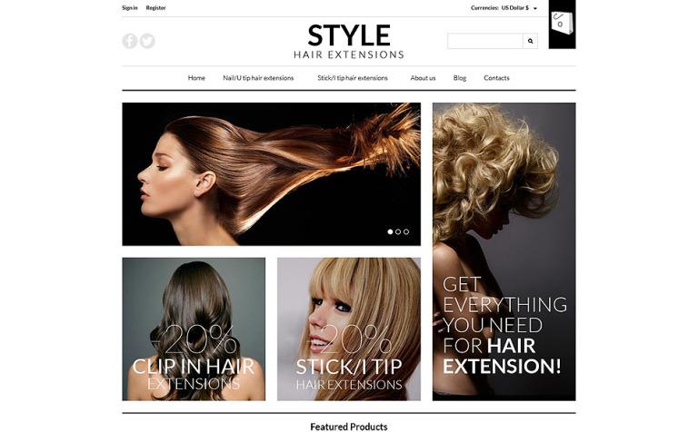 pro hair extensions virtuemart template 52760