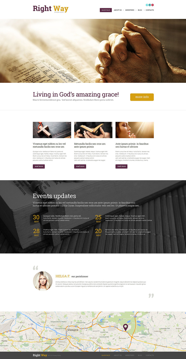 Religious WordPress Theme New Screenshots BIG