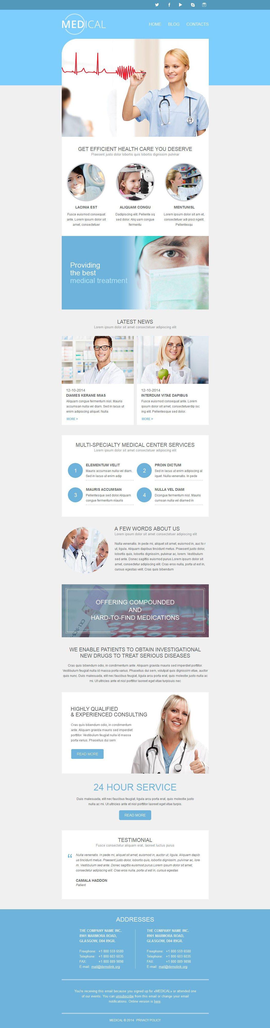 Responsive Newsletter Vorlage für Medizin #52745