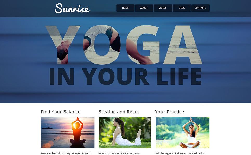 Responsive Website template over Yoga New Screenshots BIG