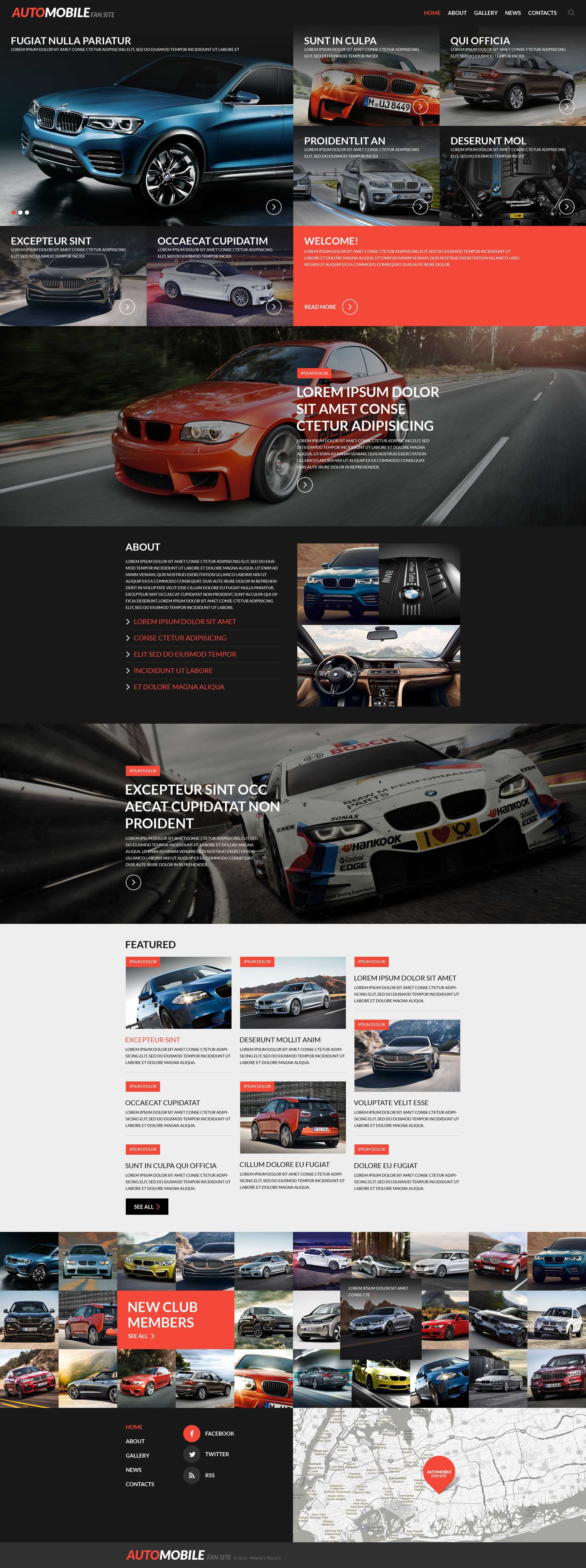 Responsywny szablon strony www Automobile Fan Site #52711