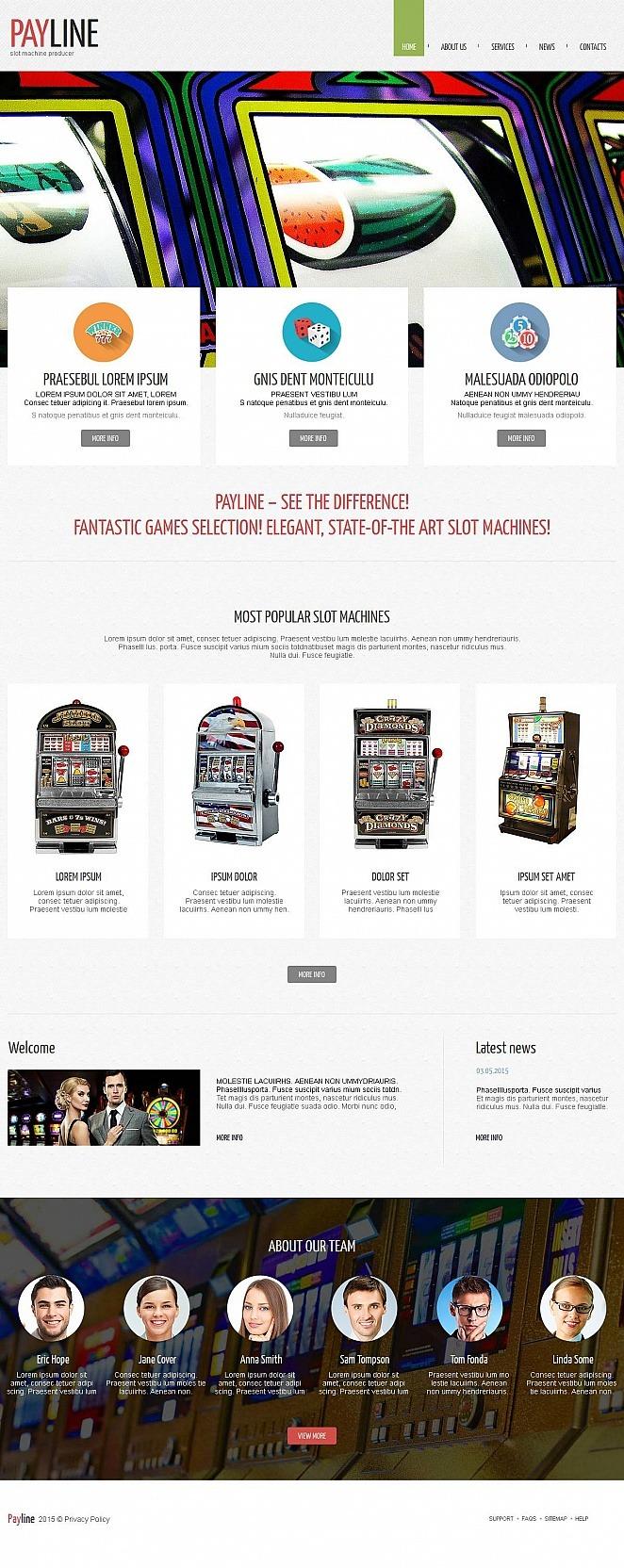 Slot Machines Moto CMS HTML Template New Screenshots BIG