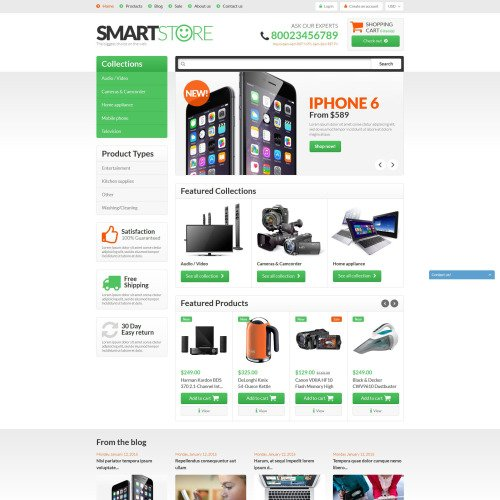 Smart Store - Shopify Template based on Bootstrap