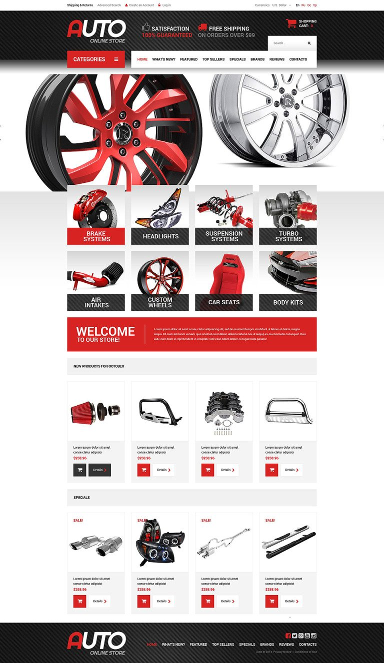 Spare Parts OsCommerce Template New Screenshots BIG