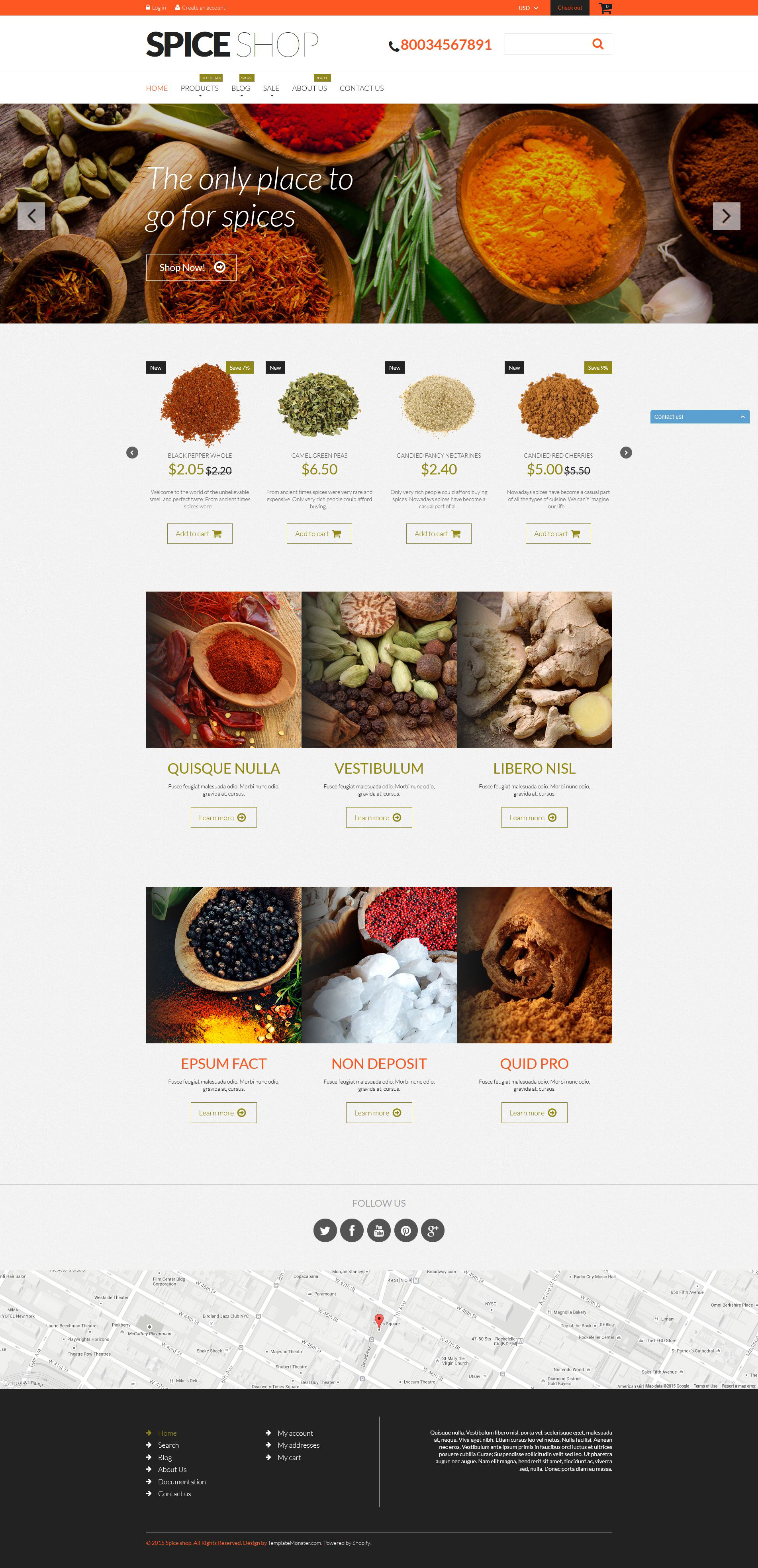 Spices for Cooking Shopify Theme - screenshot