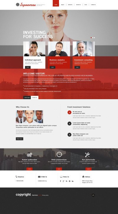 Stable Investment Company Drupal Template