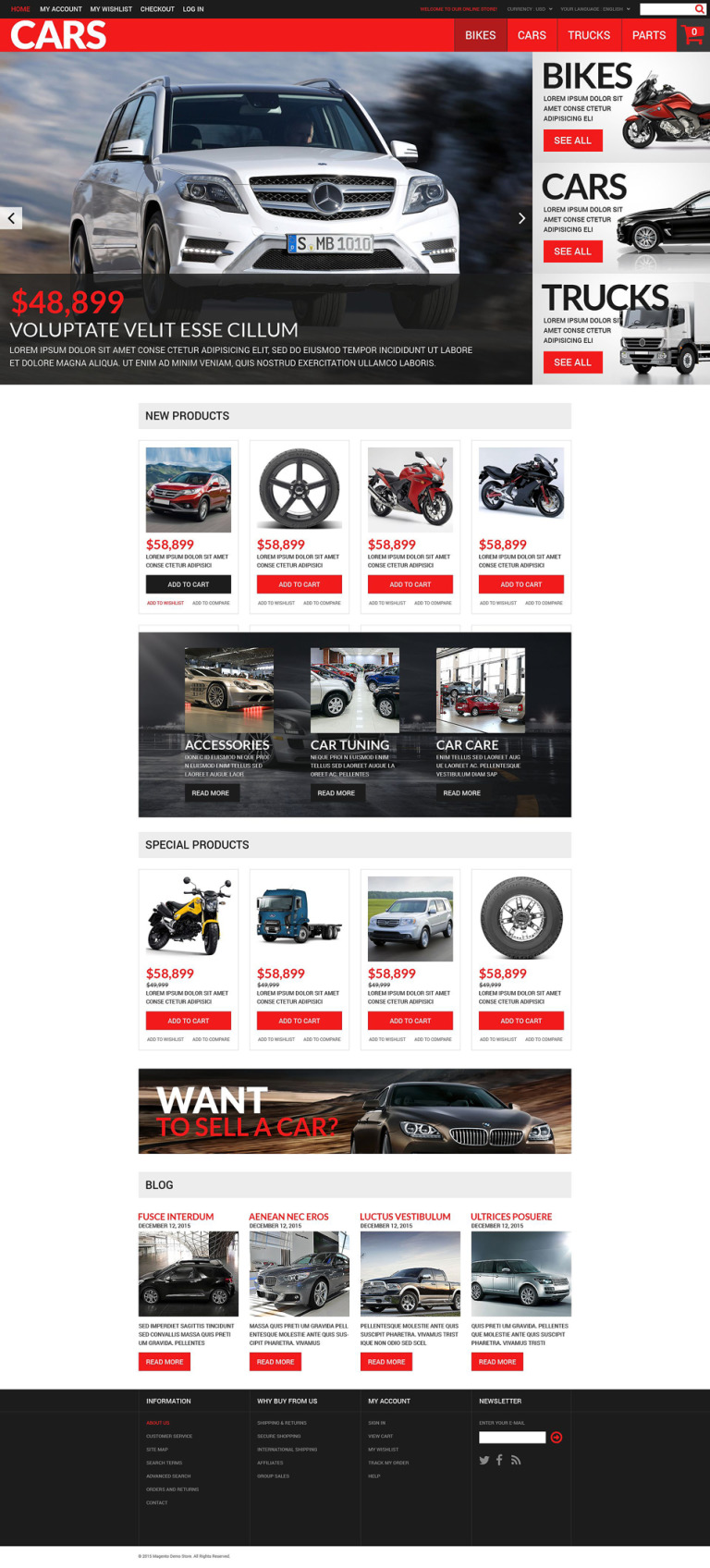 Successful Auto Dealers Magento Theme New Screenshots BIG