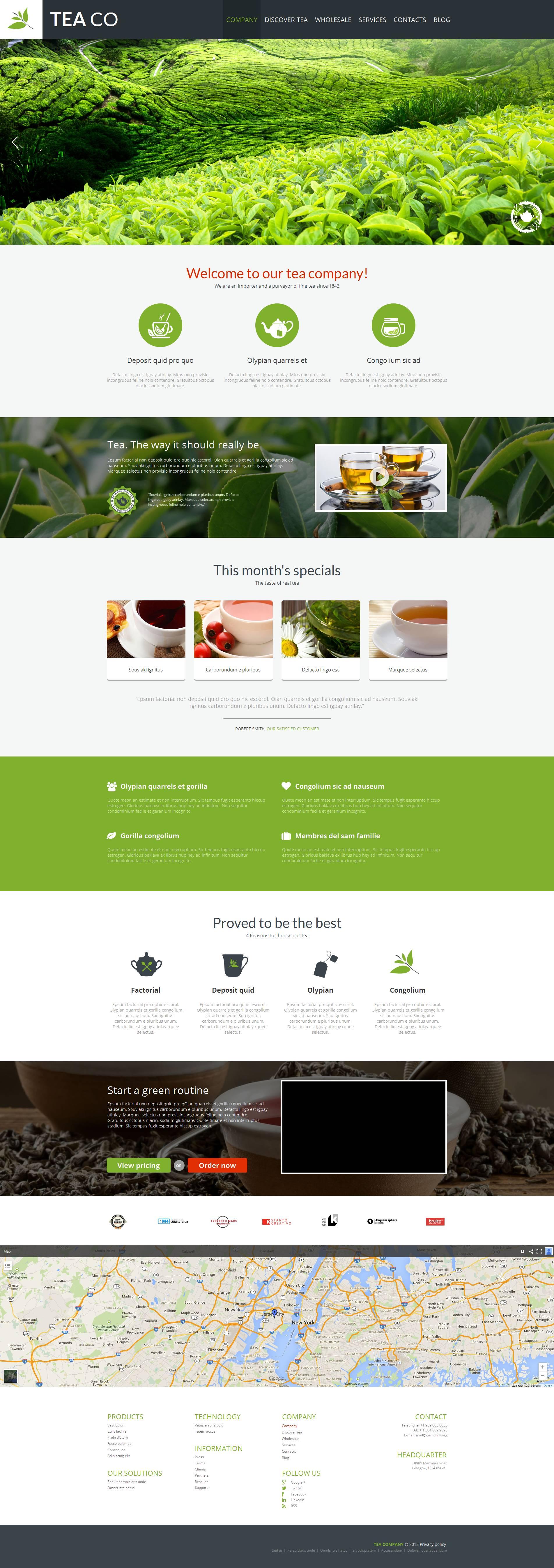 Tea Shop Moto CMS HTML Template