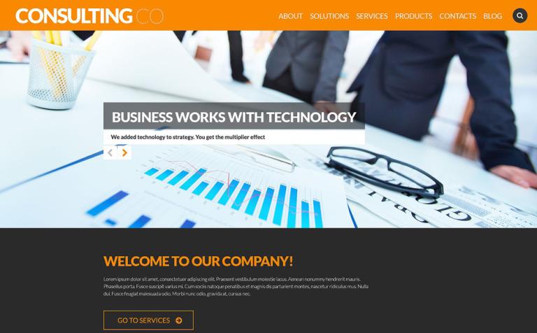 Tema de WordPress #52700 para Sitio de Consultoría