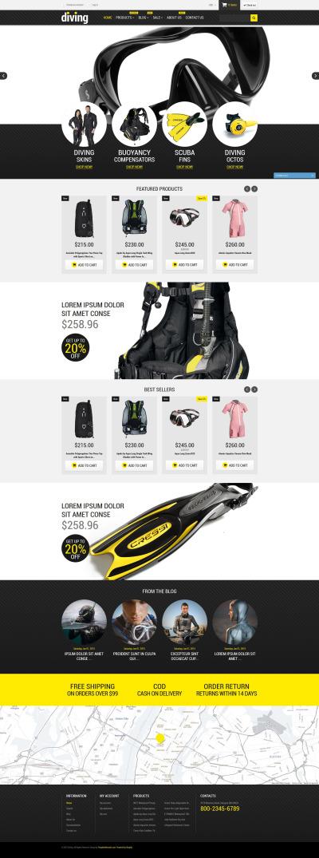 Responsive Tema Shopify #52766 para Sitio de  para Sitio de Buceo