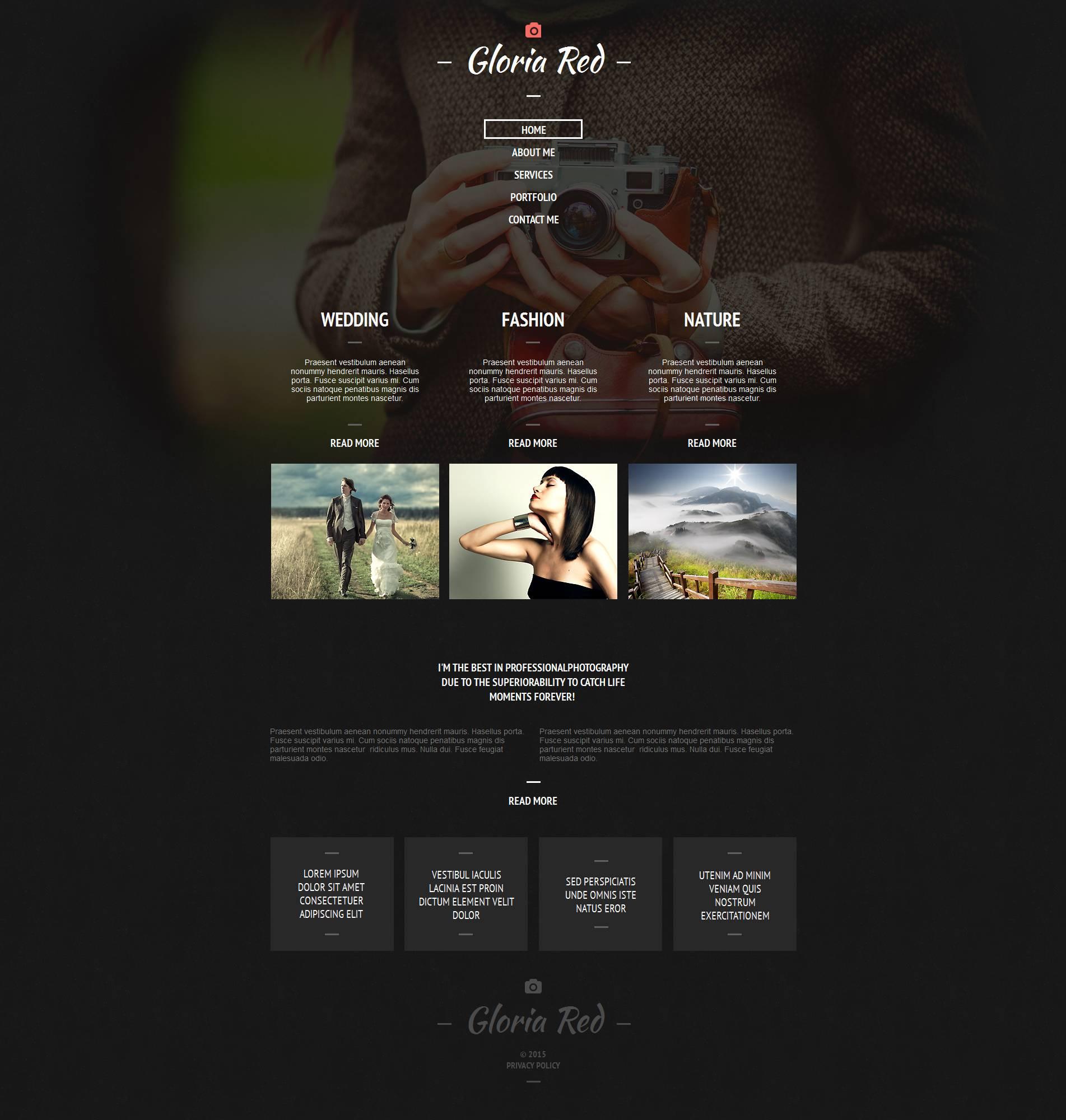 Template de Galeria de Fotos para Sites de Portfólio de Fotografo №52795