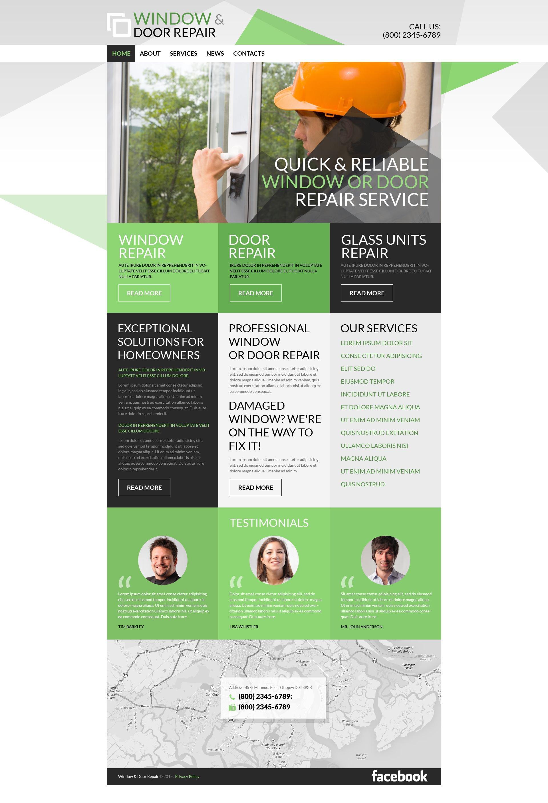 "Template WordPress Responsive #52720 ""Home Renovation"" - screenshot"
