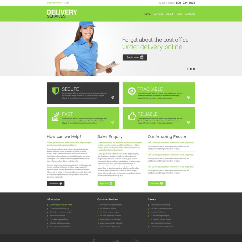 Delivery Services - Responsive Drupal Template