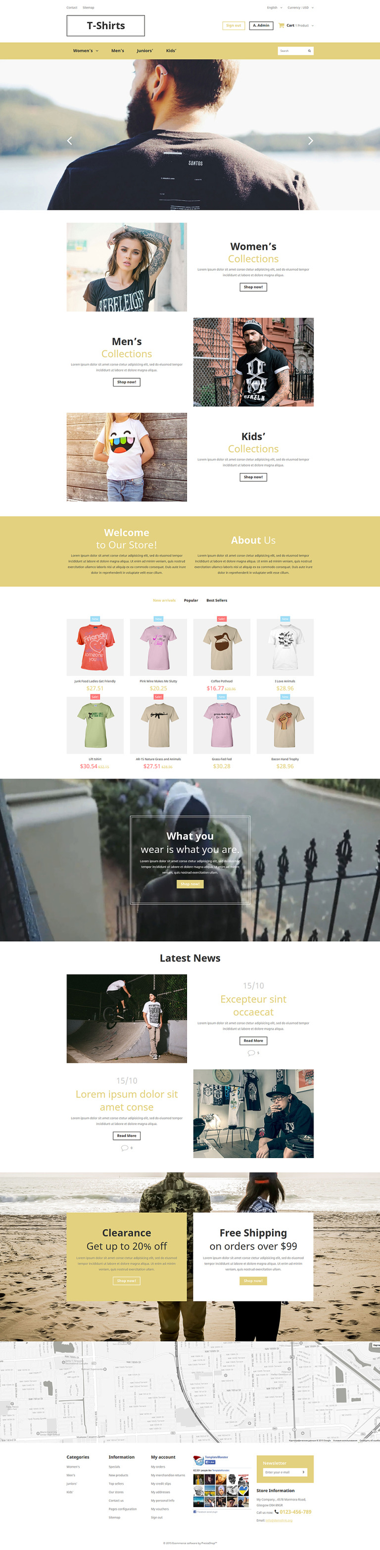 Trendy Fashion PrestaShop Theme New Screenshots BIG