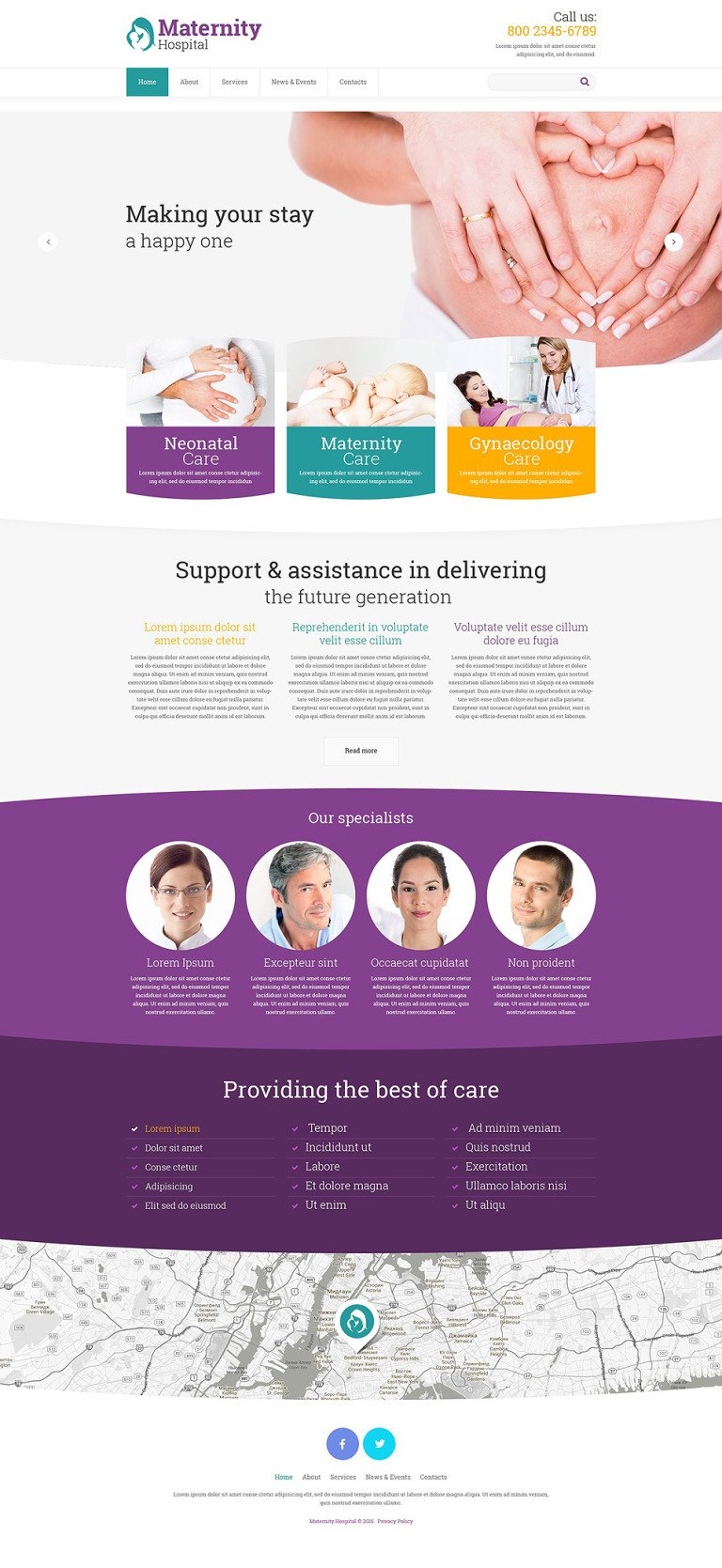 Women's Consulting Website Template New Screenshots BIG