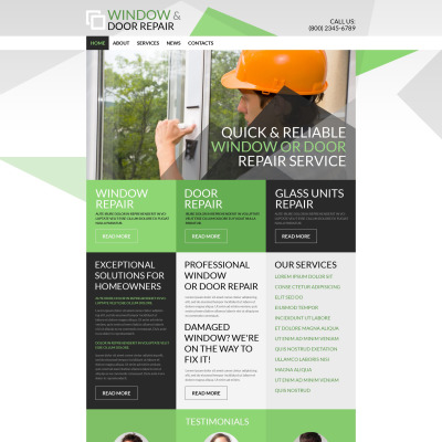 Responsives WordPress Theme für Fenster