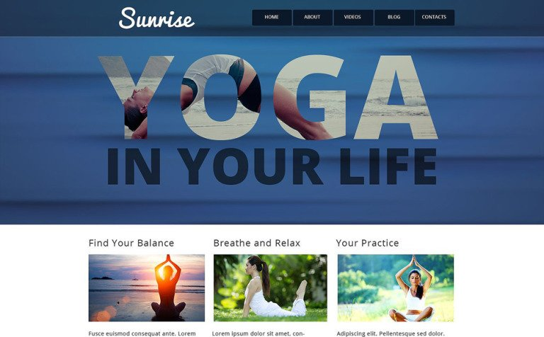 Yoga Style Website Template
