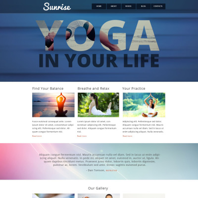 yoga style website template 52712