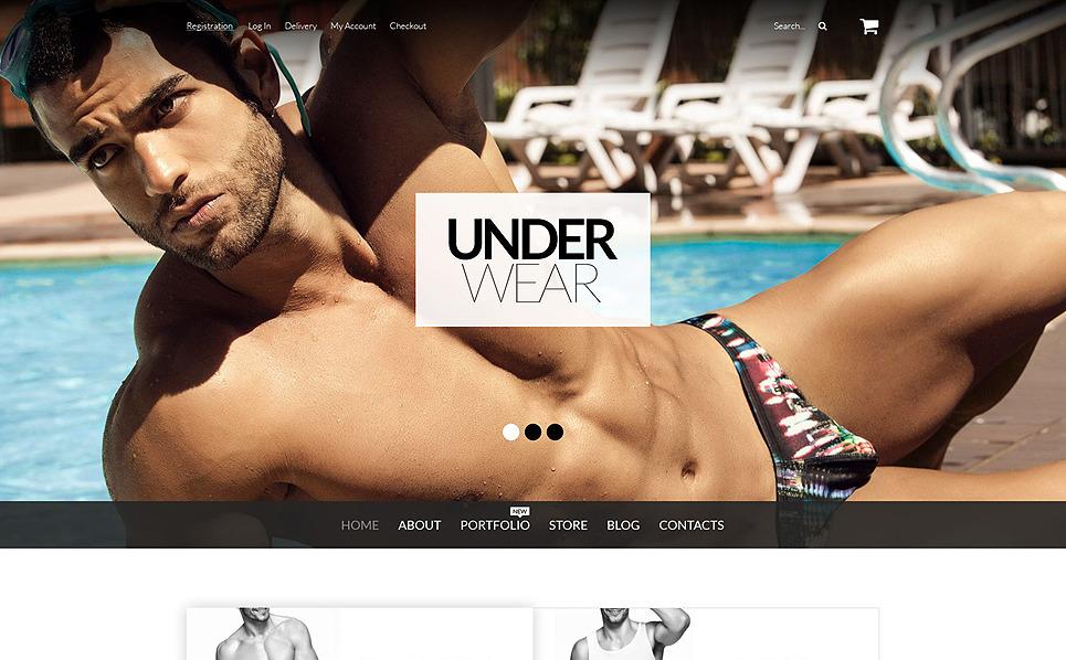 "Template WooCommerce Responsive #52804 ""Biancheria intima per gli Uomini"" New Screenshots BIG"