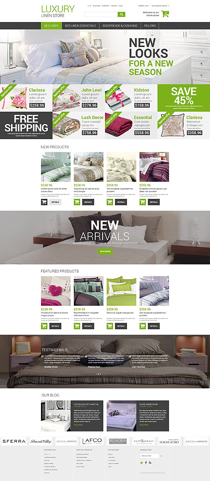 Magento Theme/Template 52810 Main Page Screenshot