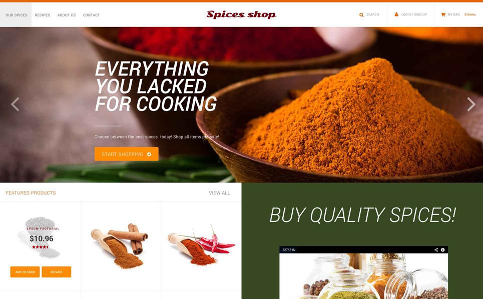 PSD Vorlage für Gewürz-Shop  New Screenshots BIG
