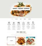 Cafe & Restaurant Website  Template 52814