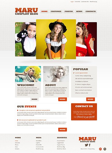 WordPress Theme/Template 52827 Main Page Screenshot