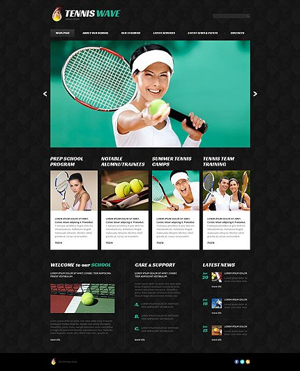 WordPress Theme/Template 52829 Main Page Screenshot
