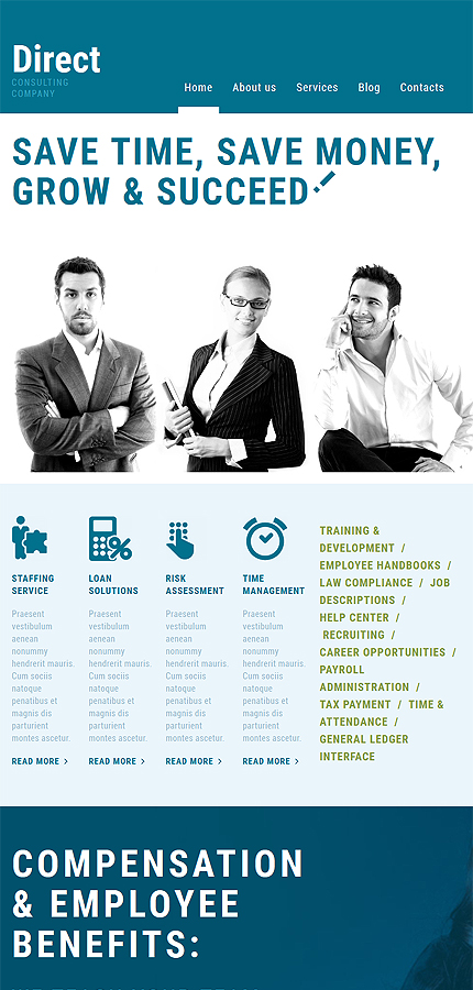 WordPress Theme/Template 52832 Main Page Screenshot