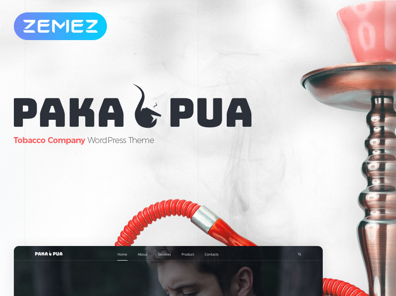 Адаптивний WordPress шаблон на тему тютюн New Screenshots BIG