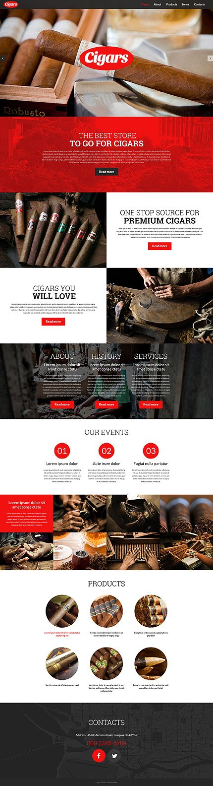 WordPress Theme/Template 52834 Main Page Screenshot