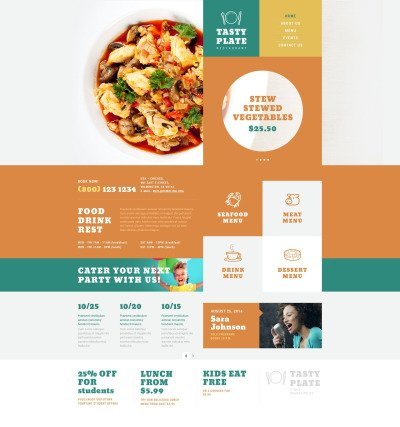Spanish Restaurant Responsive WordPress模板