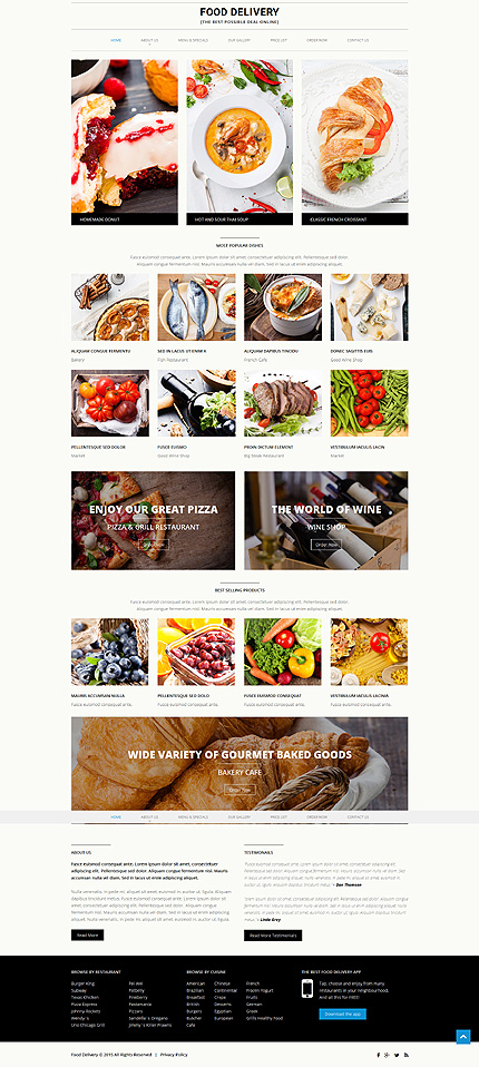39 food delivery 39 html template 52840. Black Bedroom Furniture Sets. Home Design Ideas
