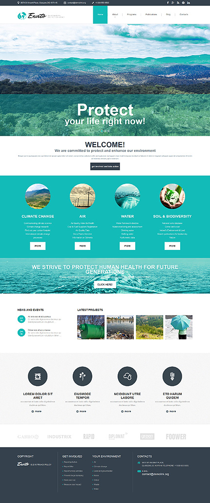 Joomla Theme/Template 52842 Main Page Screenshot