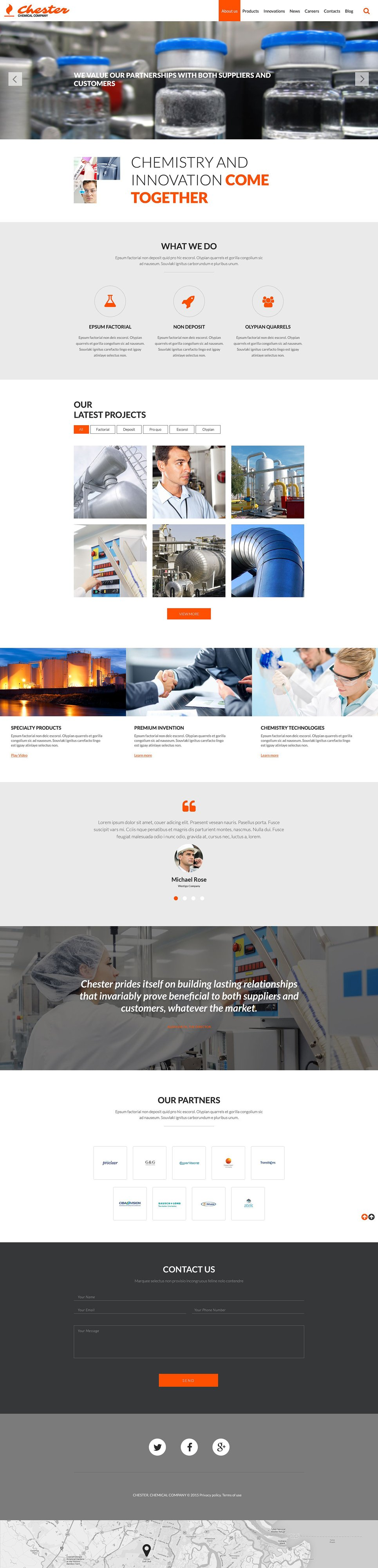 Chemical Company template illustration image
